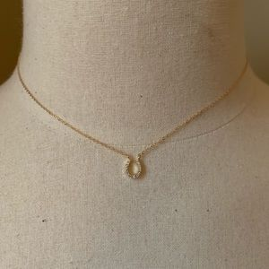 Jewelry - Vermeil necklace with crystal horseshoe